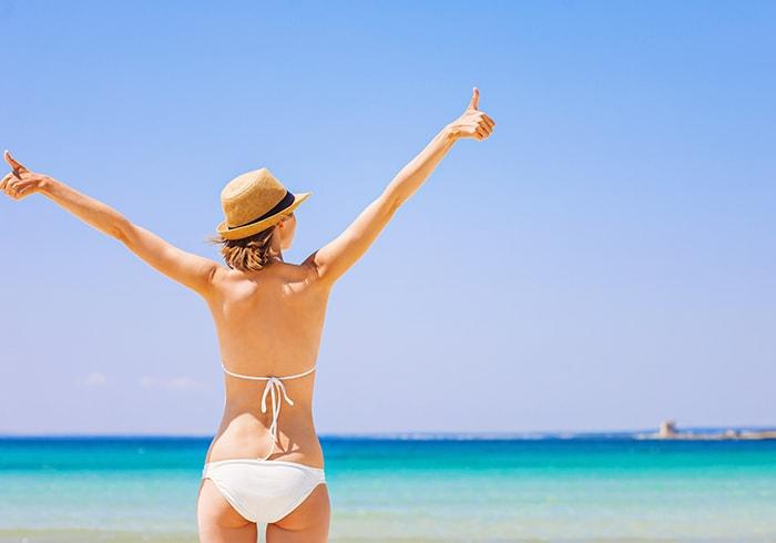 ヌーブラビーチで夏を満喫